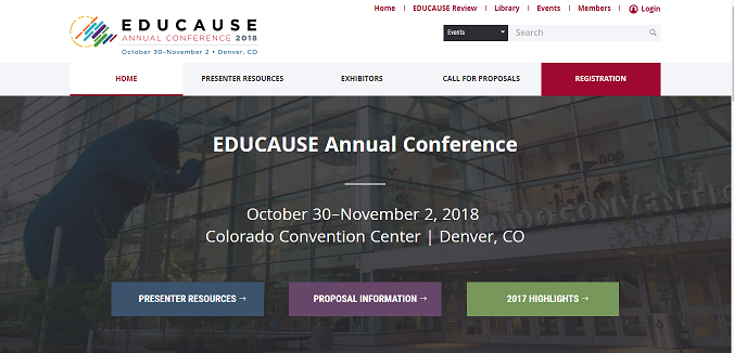 EDUCAUSE Annual Conference 2018
