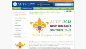 2018 ACTFL Annual Convention and World Languages Expo
