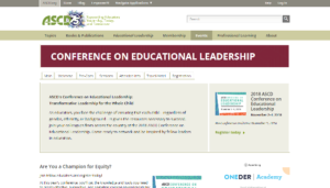 2018 ASCD Conference on Educational Leadership