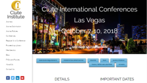 2018 Clute International Conferences Las Vegas