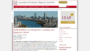2018 Institute on Integrative Learning and Signature Work