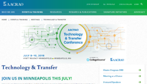 AACRAO's Technology & Transfer Conference 2018