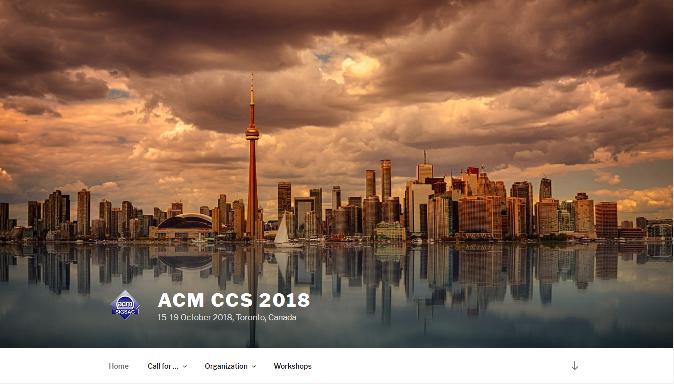 ACM CCS 2018