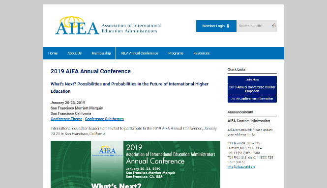 AIEA Annual Conference 2019 | Association of International Education