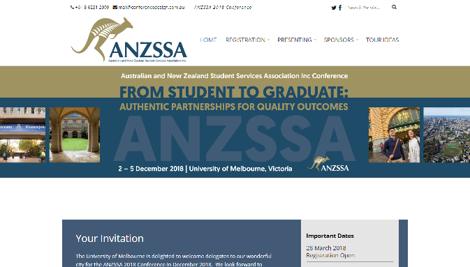 ANZSSA 2018 Conference