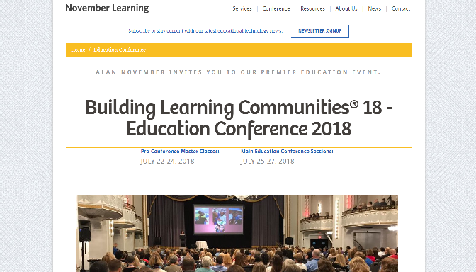 Building Learning Communities Education Conference 2018