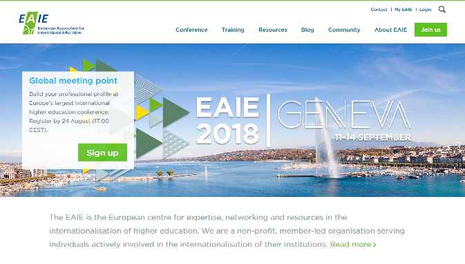 EAIE 2018 Conference and Exhibition