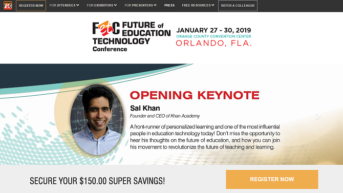Future of Education Technology Conference FETC 2019