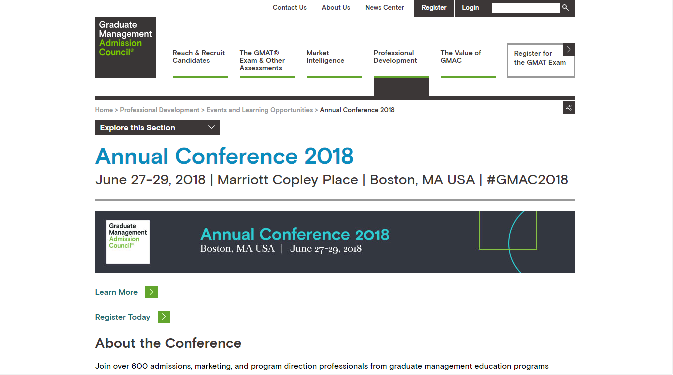 GMAC 2018 Annual Conference