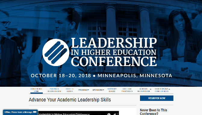 Leadership in Higher Education Conference 2018