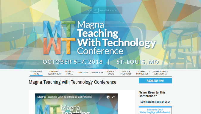 MT 2018 Magna Teaching with Technology Conference