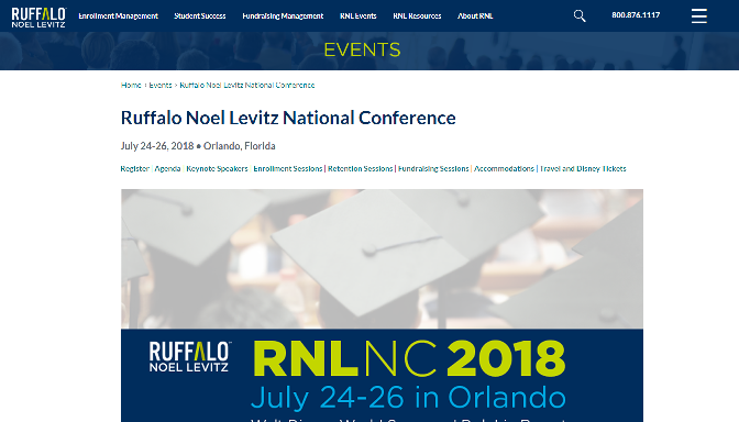 Ruffalo Noel Levitz National Conference 2018