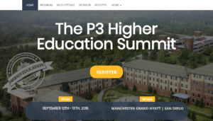 The P3 Haigher Education Summit 2018