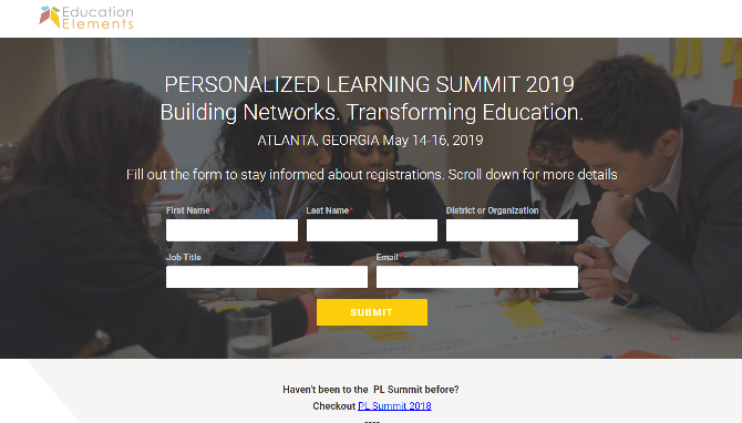 Personalized Learning Summit 2019 Atlanta, GA