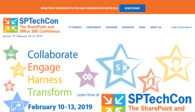 SPTechCon The SharePoint and Office 365 Conference 2019 Boston, MA