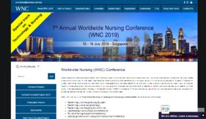 WNC 2019 Worldwide Nursing Conference Singapore