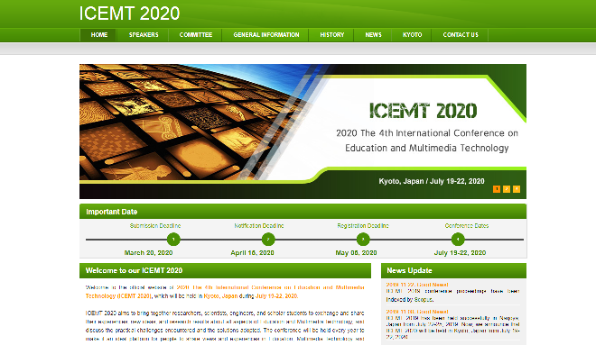 International Conference on Education and Multimedia Technology 2020