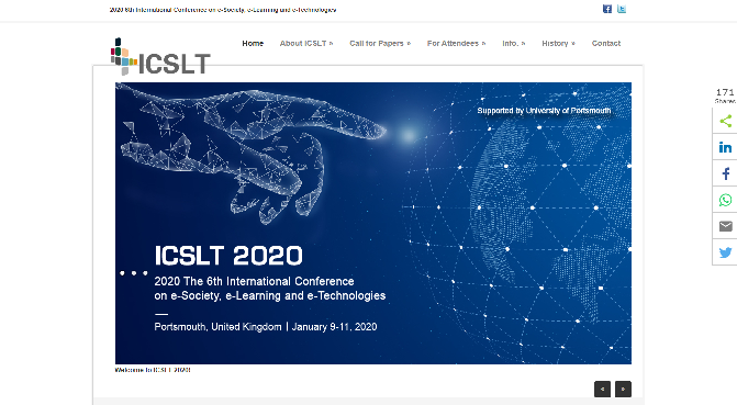International Conference on e-Society, e-Learning and e-Technologies 2020