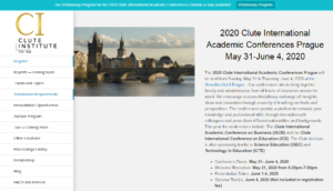 Clute International Academic Conference 2020