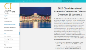 Clute International Academic Conferences 2020