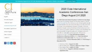 Clute International Academic Conferences 2020 San Diego