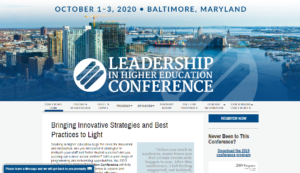 Leadership in Higher Education Conference 2020