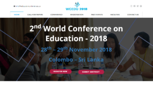 2nd World Conference on Education 2018