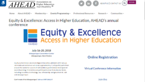 AHEAD 2018 Equity & Excellence Access in Higher Education