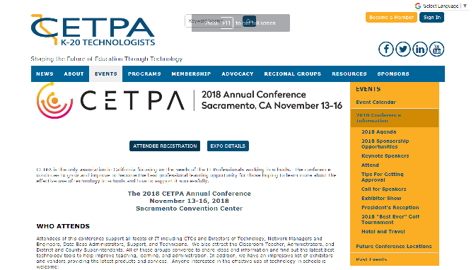 CEPTA 2018 California Educational Technology Professionals Association Annual Conference