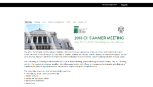 CII Summer Meeting 2018