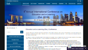 Education and e-Learning Conference EeL 2018