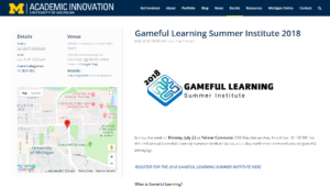 Gameful Learning Summer Institute 2018