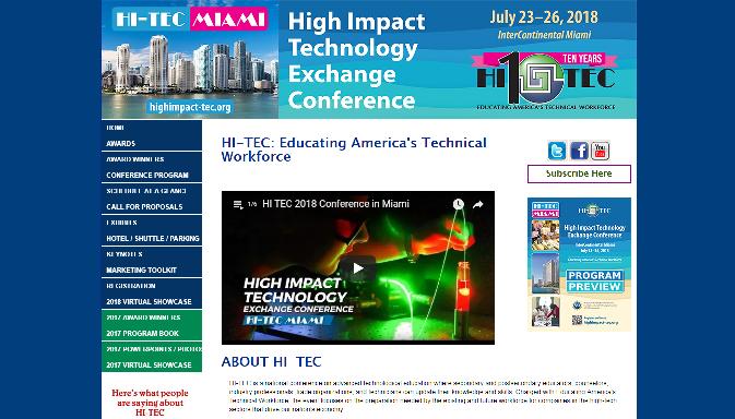 HI-TEC 2018 High Impact Technology Exchange Conference