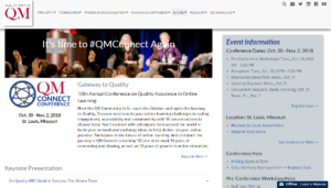 Quality Matters QM Connect Conference 2018