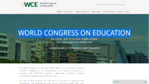 World Congress on Education WCE 2018