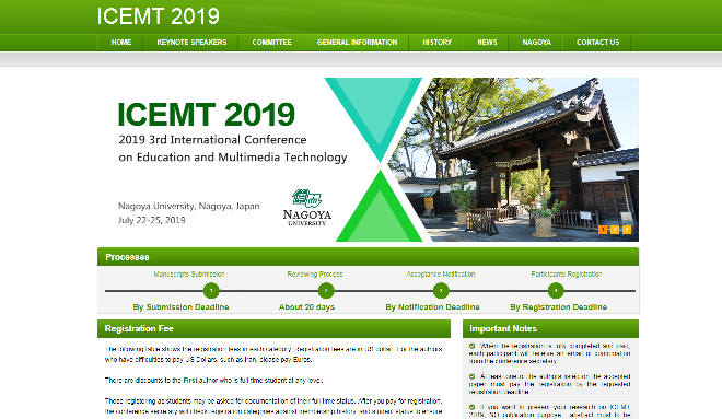 ICEMIT 2019 International Conference on Education and Multimedia Technology Nagoya, Japan