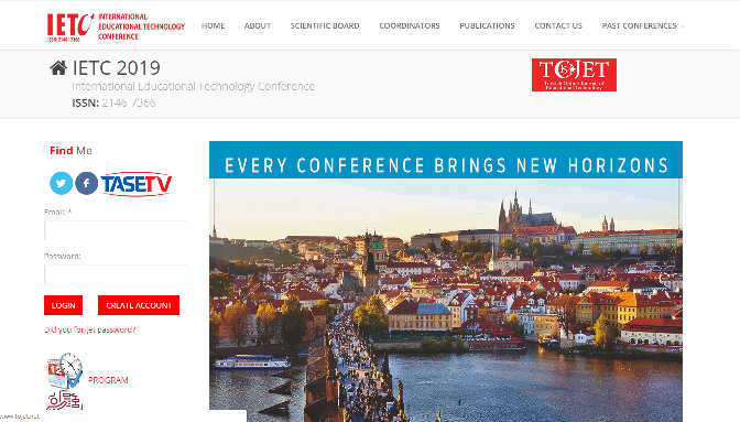 IETC 2019 International Educational Technology Conference Prague, CZ