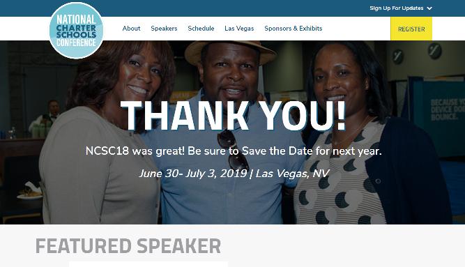 NCSC 2019 National Charter Schools Conference Las Vegas, NV