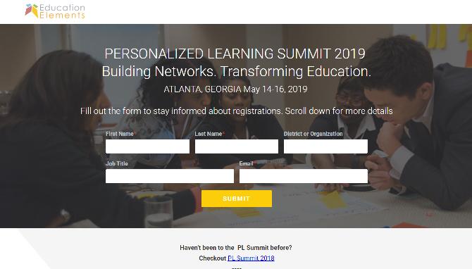 Personalized Learning Summit 2019 Atlanta, GA