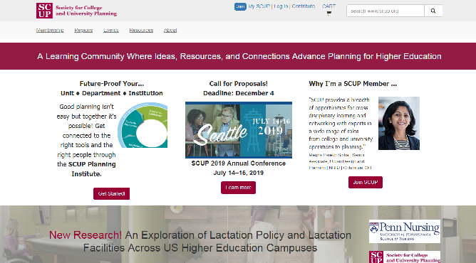 SCUP 2019 Society for College and University Planning Conference Seattle, WA