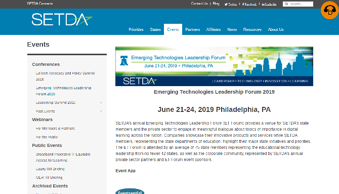 SEDTA 2019 Emerging Technologies Leadership Forum 2019 Philadelphia, PA