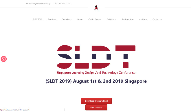 SLDT 2019 Singapore Learning Design and Technology Conference Singapore