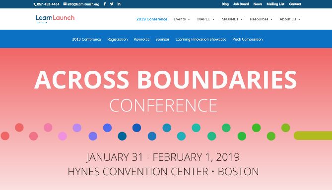 The LearnLaunch Across Boundaries Conference 2019 Boston, MA