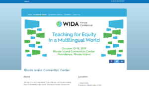 WIDA 2019 Annual Conference World-Class Instructional Design and Assessment Providence, RI
