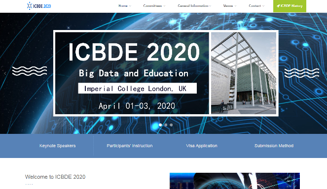 International Conference on Big Data and Education