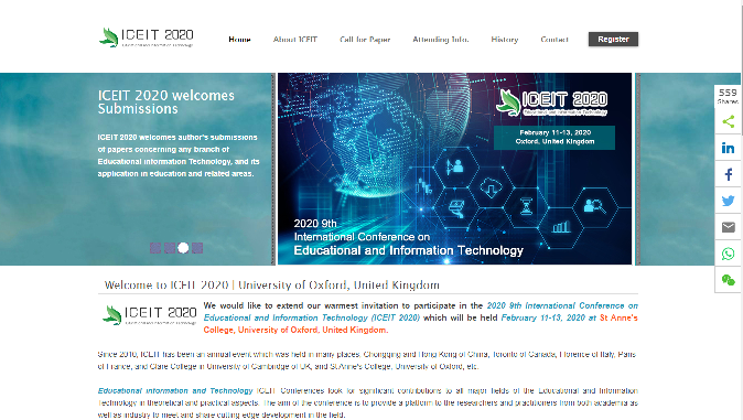 International Conference on Educational and Information Technology 2020