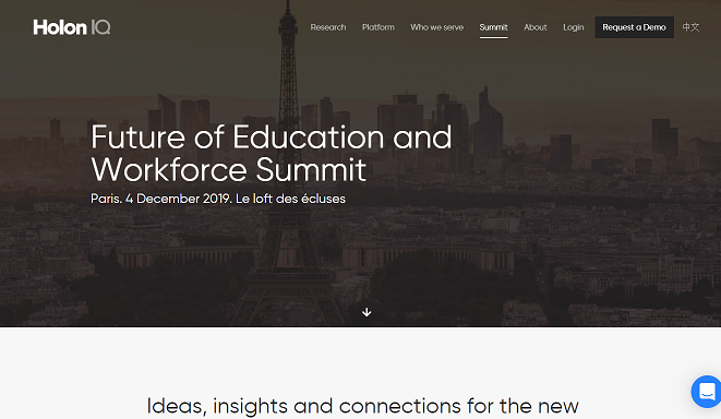 HolonIQ 'Future of Education and Workforce' Summit 2020