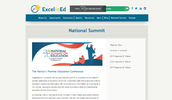 National Summit on Education 2020